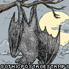 hanging bat stamp