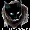 black cat stamp