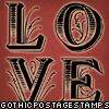 red ornate love stamp
